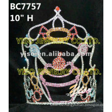 fashion cheap tall pageant crown tiara